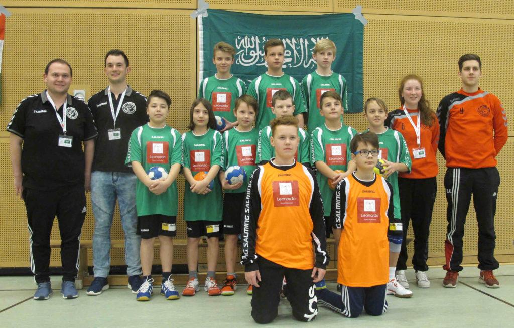 Mannschaftsbild mD1 Handball Mini WM